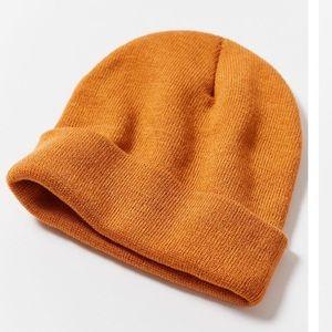 UO Mia jersey knit beanie, camel.